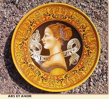 Ceramiche d\'Arte Vecchia Deruta - Piatti da Gran Pompa dipinti a mano